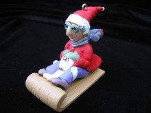 Hallmark 1998  Maxine & Floyd  On Sled Christmas Tree Ornament