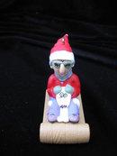 Hallmark 1998  Maxine & Floyd  On Sled Christmas Tree Ornament
