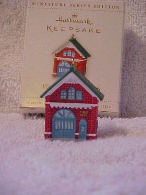 Hallmark 2006 The Firehouse No. 2006 3rd & Final In Miniature Fire Brigade Christmas Tree Ornament