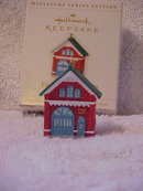 Hallmark 2006 The Firehouse No. 2006 3rd & Final In Miniature Fire Brigade Christmas Tree Ornament