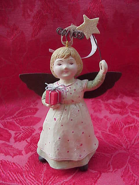 Hallmark Little Girl Old Fashioned Angel In Pinafore  Christmas Tree Ornament