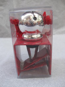 Hallmark 2007 Christmas Sleigh Bell Wine Stopper In Original Box