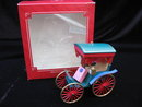 Hallmark 1987 Sweetheart Fringed Surrey Carriage Valentine's Day or Christmas Tree Ornament