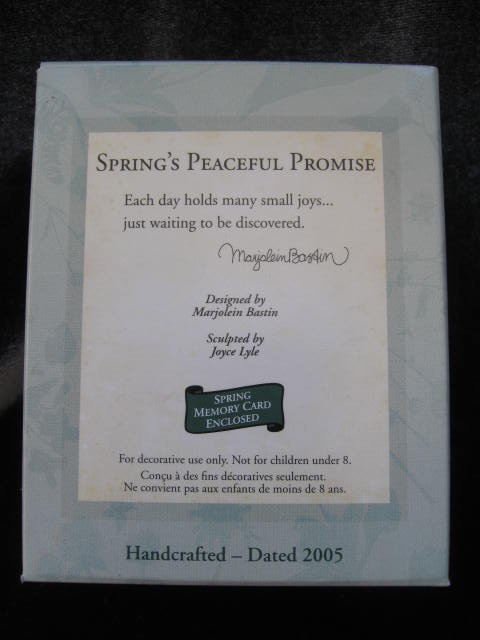 Hallmark 2005 Spring's Peaceful Promise Bastin Christmas Tree Ornament