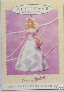 Hallmark 1995 Barbie Springtime 1st In Easter Series  Ornament Easter or Christmas Tree Ornament