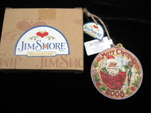 Jim Sore 2008 Folk Art Santa Christmas Tree Ornament