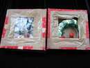 3 Green Foil Christmas Wreaths Lights 2 In Original Boxes