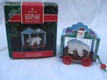 Hallmark 1991 POLAR CIRCUS WAGON  Christmas Tree Ornament  Polar Bear
