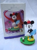 Hallmark 1999 Final Putt  Minnie Mouse Mickey & Co.  Christmas Tree Golf Golfing Ornament