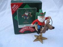 Hallmark 1987 Doc Holiday Cowboy Christmas Pizzazz Collection Christmas Tree Ornament