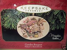 Hallmark 1997 Garden Bouquet Roses Nature's  Sketchbook Christmas Tree Ornament  Marjolein Bastin