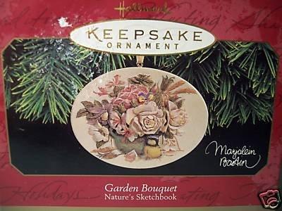 Hallmark 1997 Garden Bouquet Roses Nature's  Sketchbook Christmas Tree Ornament  Marjolein Bastin