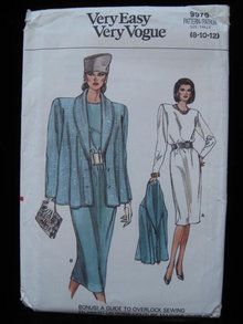 Vintage Vogue 9970  Jacket & Dress Sewing Pattern Size Misses' Size  8 10 12  1980's