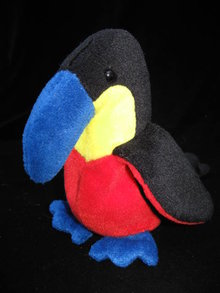 Ty  Kiwi The Toucan Tropical Bird Retired  Beanie Baby