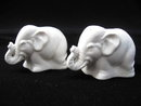 Vintage White Elephant Salt & Pepper Shakers