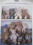 Simplicity 7826 Crafts Stuffed Bears In Three Sizes Sewing Pattern