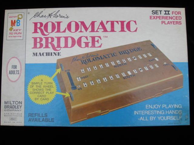 Vintage Milton Bradley Rolomatic Bridge Machine Set II