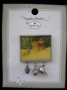 Hallmark 1999  Marjolein Bastin Rabbit Scene  Christmas   Pin Or Brooch