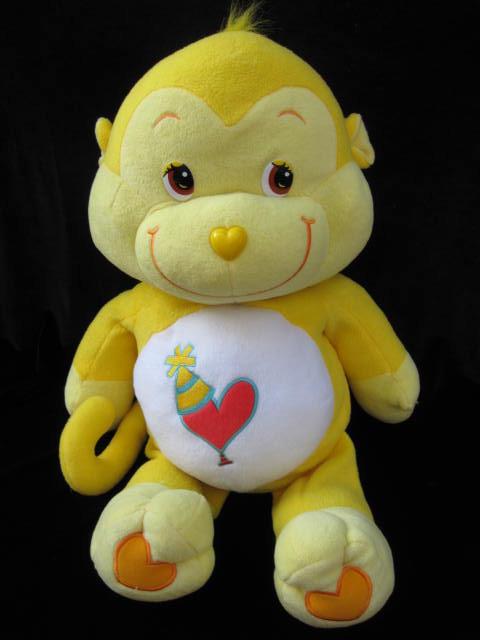 Jumbo Playful Heart Monkey Care Bear Cousin Pillow Pal 24