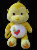 Jumbo Playful Heart Monkey Care Bear Cousin Pillow Pal 24