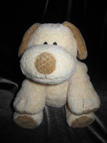 Ty Plopper The Tan & Brown Puppy Dog Pluffie Plush