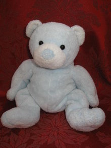 Ty Tinker the Blue & White Bear Cub Pluffies  - Tinker Pluffie