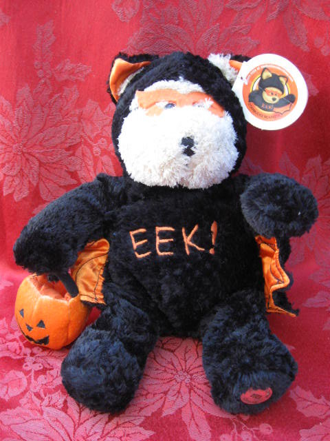 Starbucks Bearista Halloween Bear Bat 2003 Plush