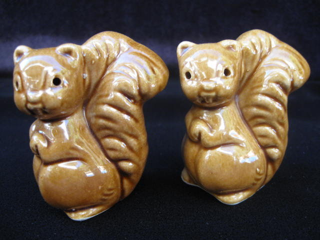 Vintage Brown Squirrel Salt & Pepper Shakers