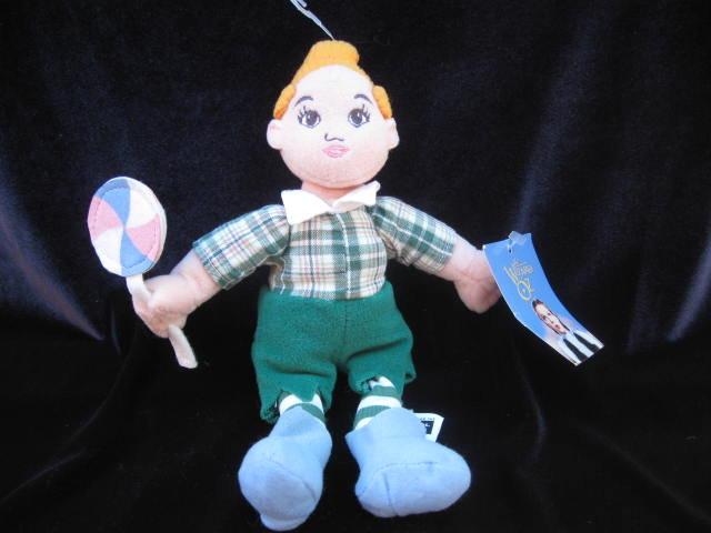 The Wizard Of OZ Lollipop Boy  Warner Brothers Plush Beanie  Doll