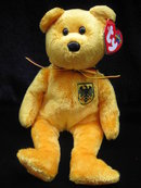 Ty PRINZ VON GOLD German Exclusive Ty Beanie Baby Bear MWMT