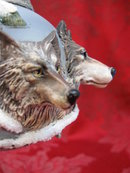 Bradford Eyes In The Shadows 3 Dimensional Wolf Christmas Tree Ornament
