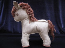 Vintage Hand Made Linoleum Horse or Pony