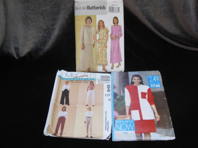 Lot of 3  Sewing Patterns McCall's, Butterick  & Butterick See & Sew Sewing Patterns Size 16-24