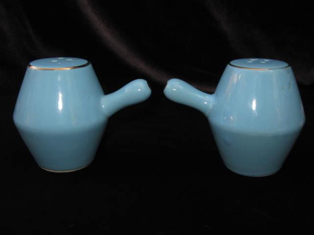 Vintage Blue  Fruit Art Deco Salt & Pepper Shakers
