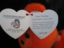 Ty   COCO PRESLEY  Elvis Presley  The Orange  Retired Beanie Baby Bear  Reese's Candy