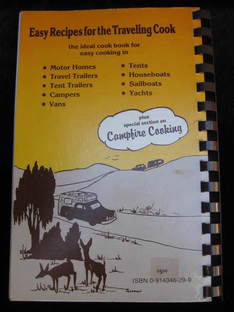 Easy Recipes For The Traveling Cook Cook Book Cookbook