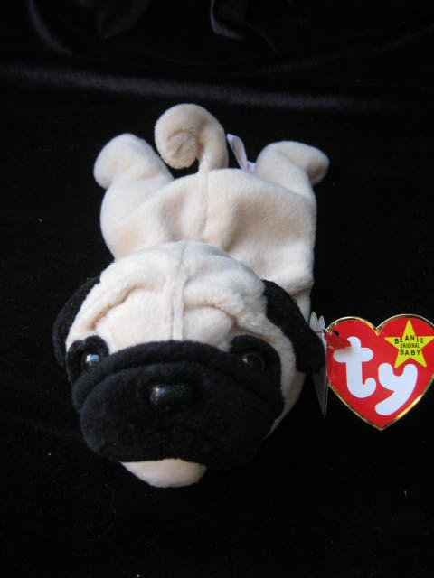 Ty Pugsly The Pug Beanie Baby Puppy Dog