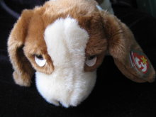 Ty Tracker The Basset Hound Puppy Dog Beanie Buddy