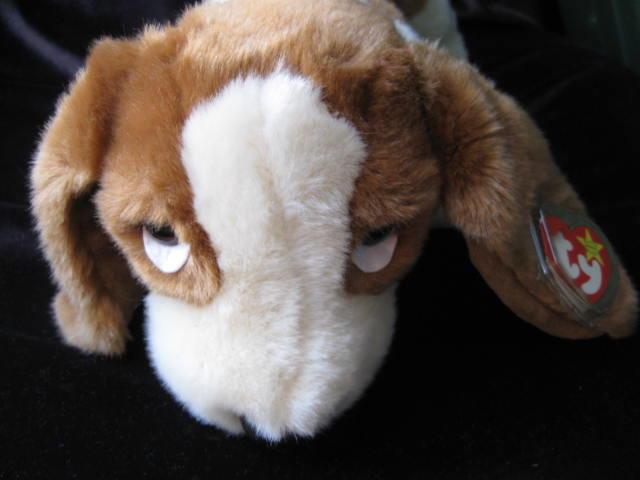 Ty Tracker The Basset Hound Puppy Dog Beanie Buddy