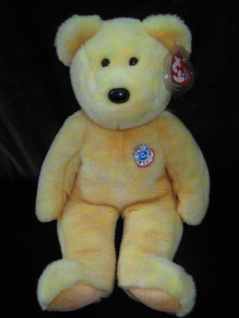 Ty Sunny The E Buddy Bear Beanie Buddy Bear  Plush