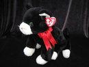 Ty Zip The Black & White Cat Beanie Buddy Plush