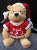 Disney 1999  Winnie The Pooh Plush Christmas Reindeer Winter Sweater Bean Bag Beanie Baby Pooh 8