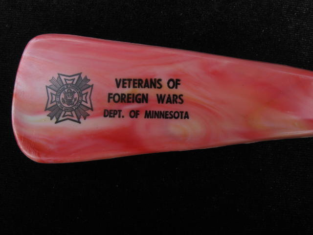 Vintage Veterans of Foreign Wars Advertising Western Horse Head  Shoe Horn