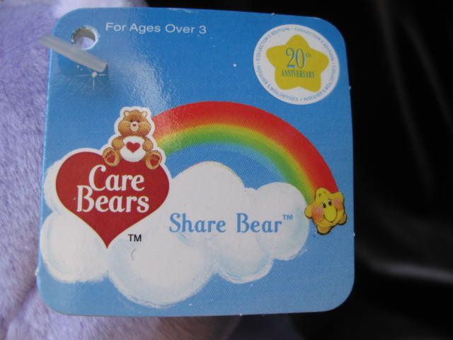Care Bears Share Bear Care Bear 20th Anniversary Share Bear 8