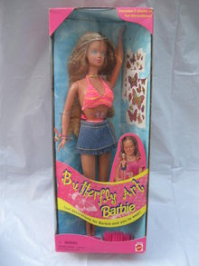 Mattel Butterfly Art Barbie Doll - Tattoo Barbie