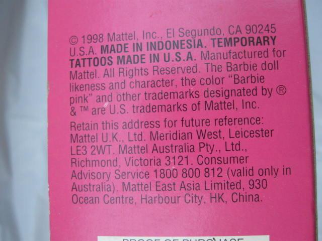 Mattel Butterfly Art Barbie Doll - Tattoo Barbie