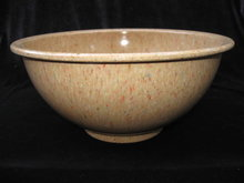Brown TexasWare Melmac Confetti Spatter Garbage Bowl