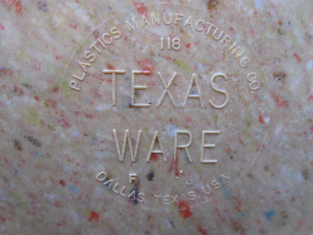 Brown TexasWare Melmac Confetti Spatter Garbage Bowl