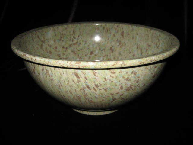 Medium Green  Texas Ware Melmac Confetti Spatter Garbage Bowl