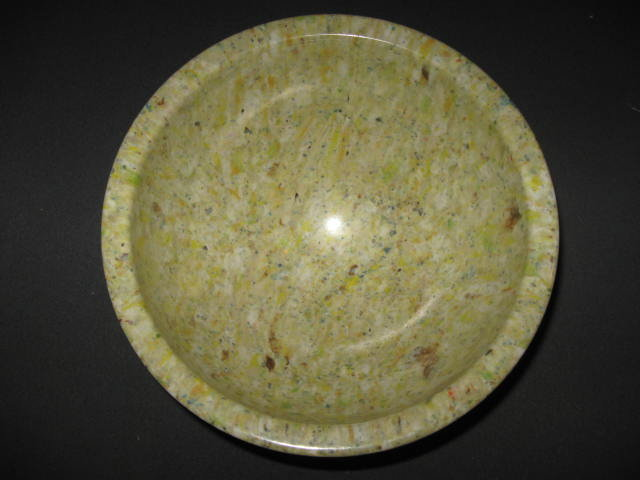 Small  Green  Texas Ware Melmac Confetti Spatter Garbage Bowl